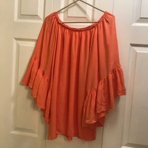 Elan to off the shoulder bell sleeve one size